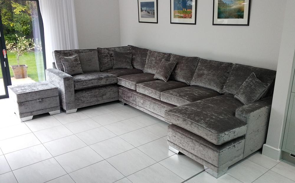 designer sofas long eaton leather or fabric sofa with dogs jordan corner | contemporary & suites ...