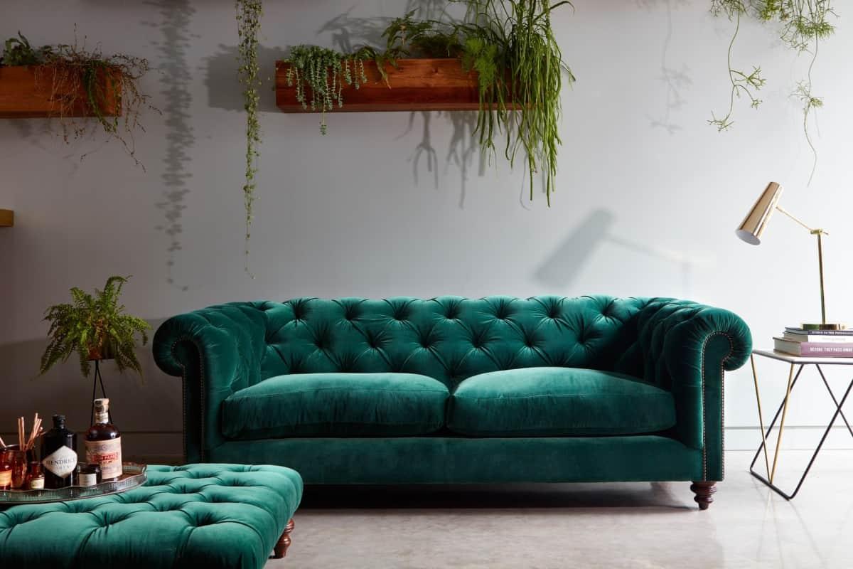 bright sofa best sleeper mattress 2018 trend bold velvet sofas the design sheppard green chesterfield by darlings of chelsea