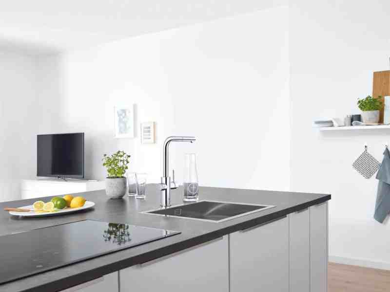 Kitchen design trends - filtered and sparling water tap by Grohe