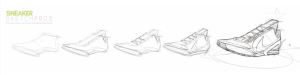 how to draw a shoe step-by-step - From shoe last to sneaker
