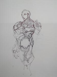 Women in metal armour