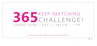 LEARN 1 TIP A DAY WITH THE 365 KEEP SKETCHING CHALLENGE !