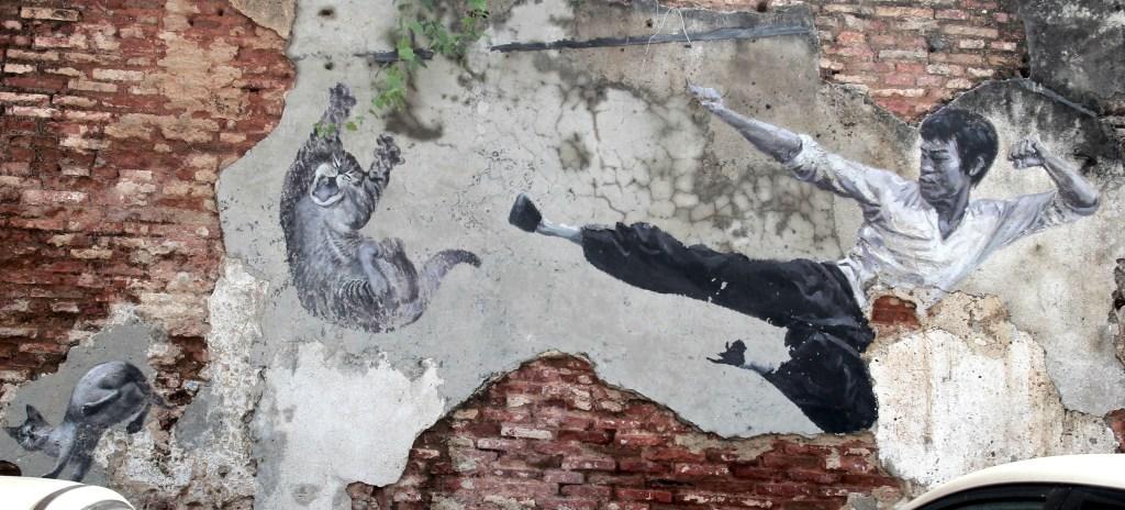 Bruce Lee Street Art at Penang Malaysia