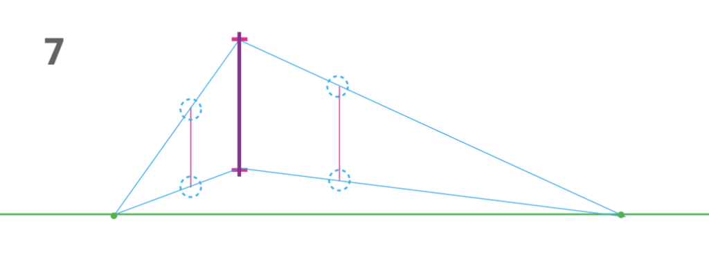how to draw a cube 2-point perspective - Step 7 box height