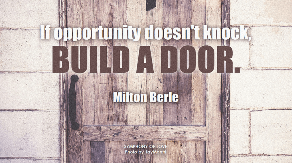 Opportunity - Build a door