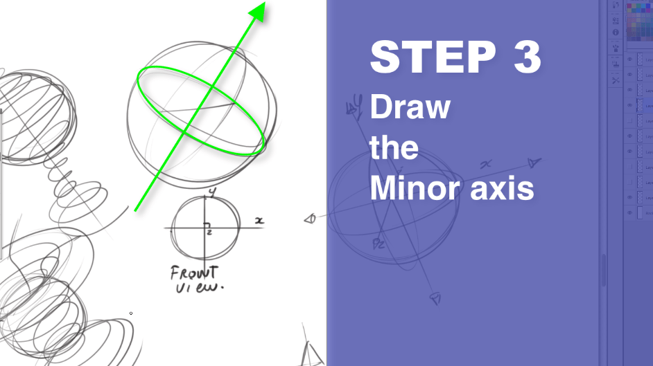How to draw a sphere - The Design sketchbook Step 5
