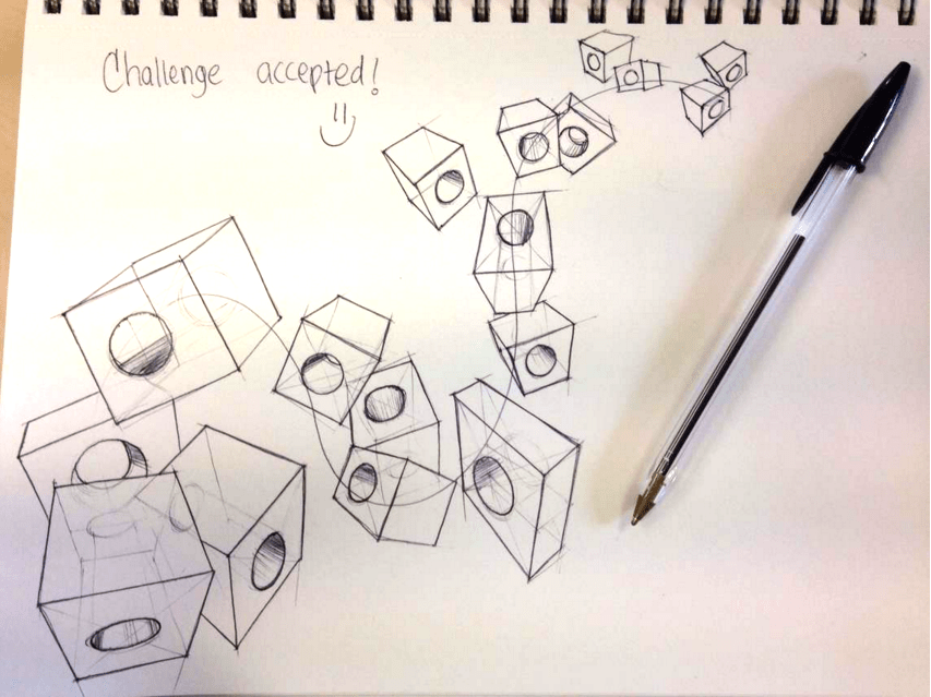 Leonardo Penaranda Cubes Sketch like the pros The Design sketchbook Circles