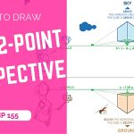 How to draw a cube with 2-point perspective easy | TIP 155 | VIDEO