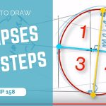 How to draw ellipses in perspective | 7 steps easy tutorial