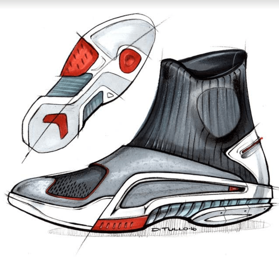Michael DiTullo Design Sketching Sketchbook Sneaker hi socks