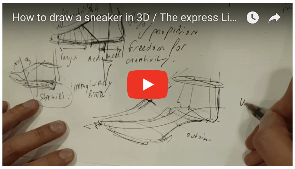How to draw Sneakers in 3D (The express live demo in Madrid)