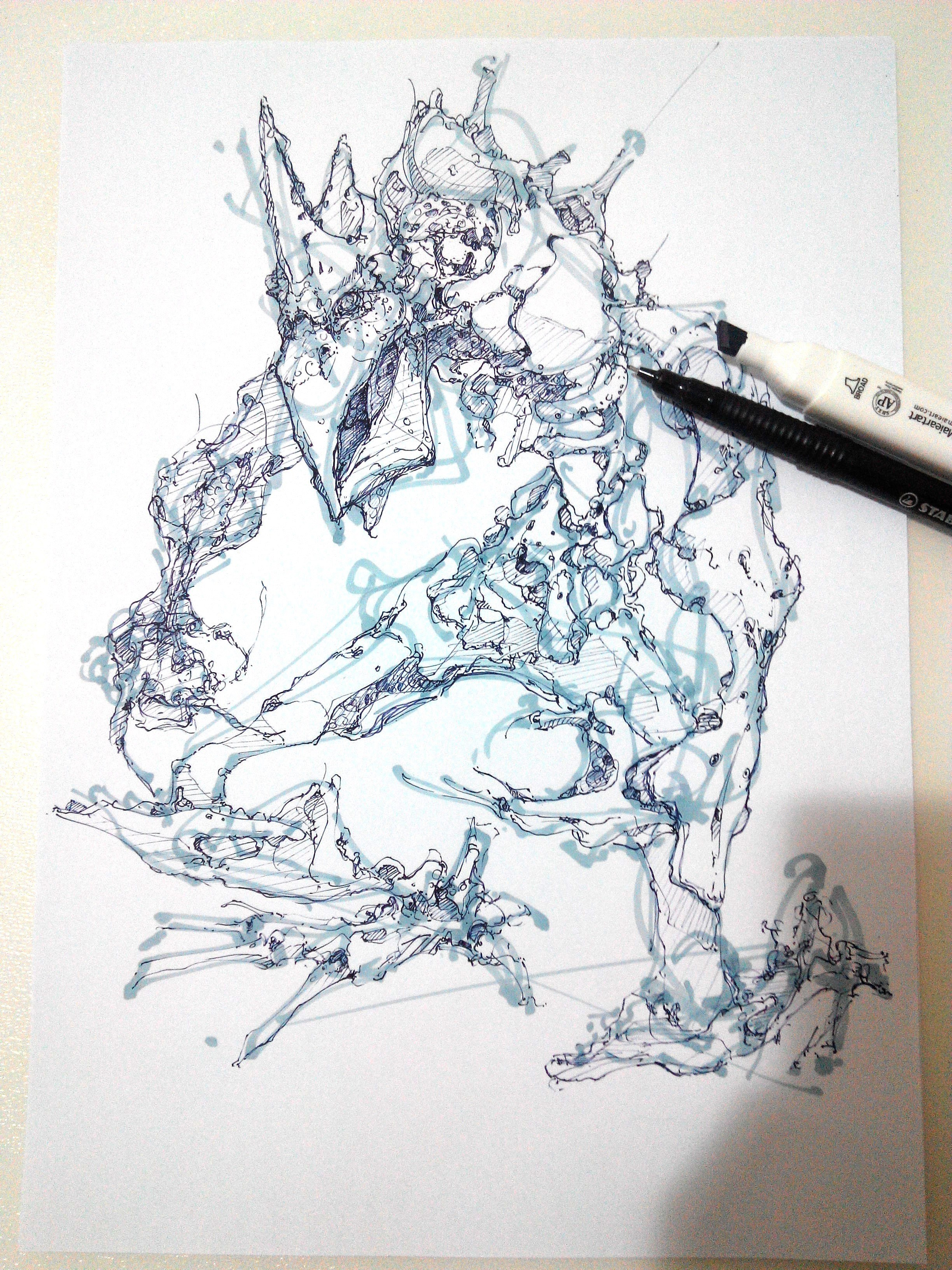 draw with stabilo stylist and marker rio-creature-theDesignSketchbook-61.jpg