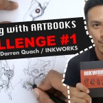 Drawing with ARTBOOKS CHALLENGE #1 / Inkwork by Darren Quach