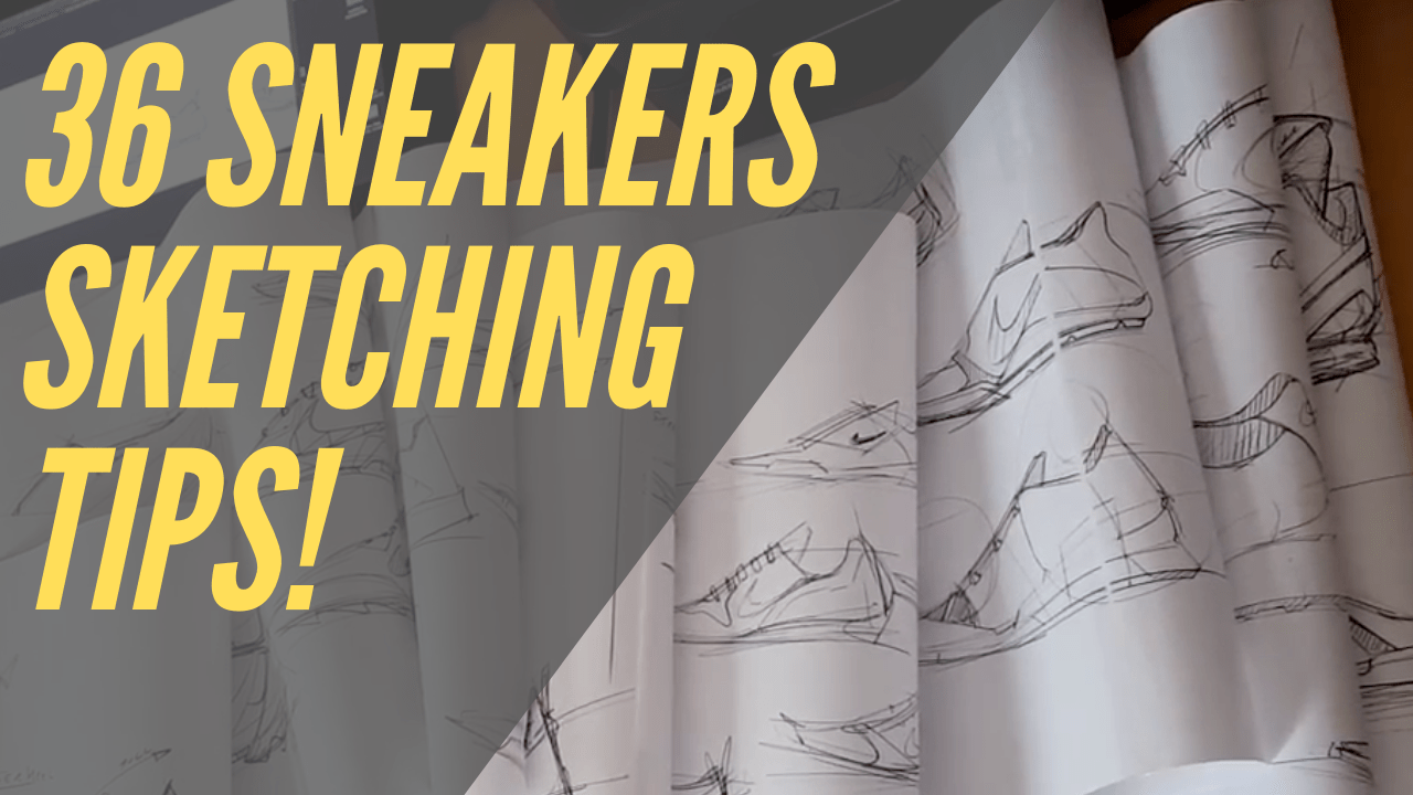 """36 sketching TIPS from the """"7 meter Sneakers Sketch Challenge"""" !"""