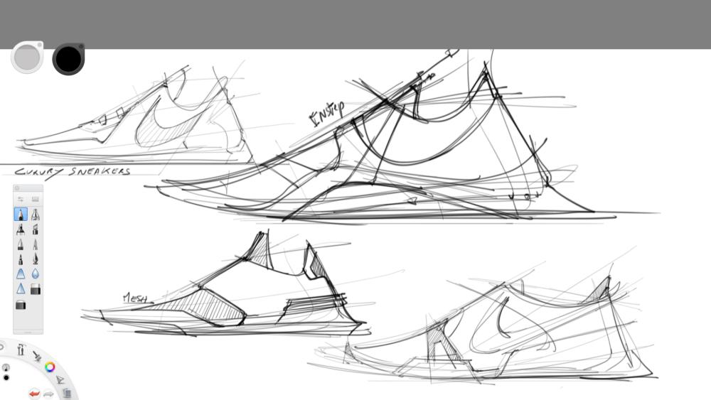 sneaker sketching challenge sketchbook pro the design