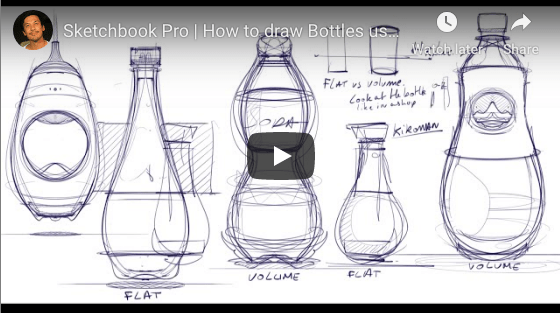 How to draw a bottle Sketchbook Pro |TIP 139 |VIDEO
