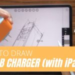 How to draw a USB Charger on iPad Pro (with the app Morpholio Trace)