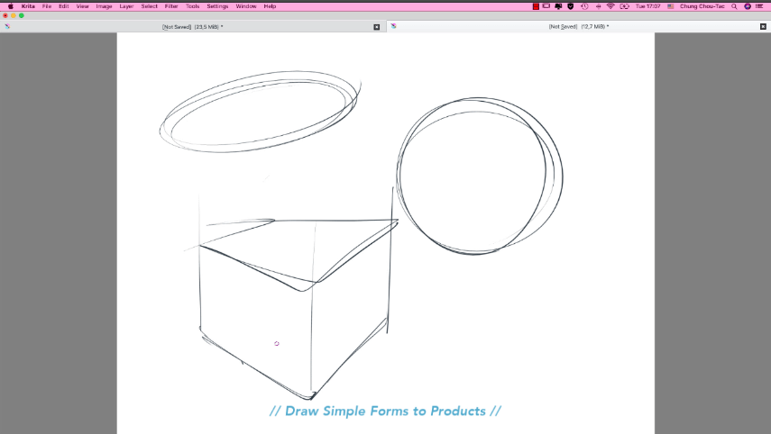 Draw these 3 Simple Forms to Products - Product design sketching - Industrial design video tutorial The Design Sketchbook Chou-Tac Chung c