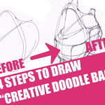 """4 Steps to draw """"Creative Doodle Bags"""""""