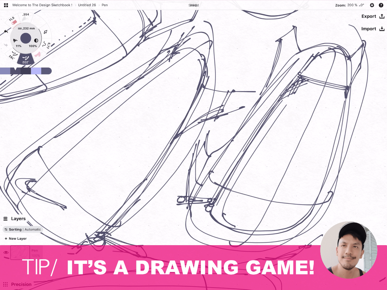 How to draw Creative random doodles of bags - Product design sketching - The Design Sketchbook Free video tutorial guide a16