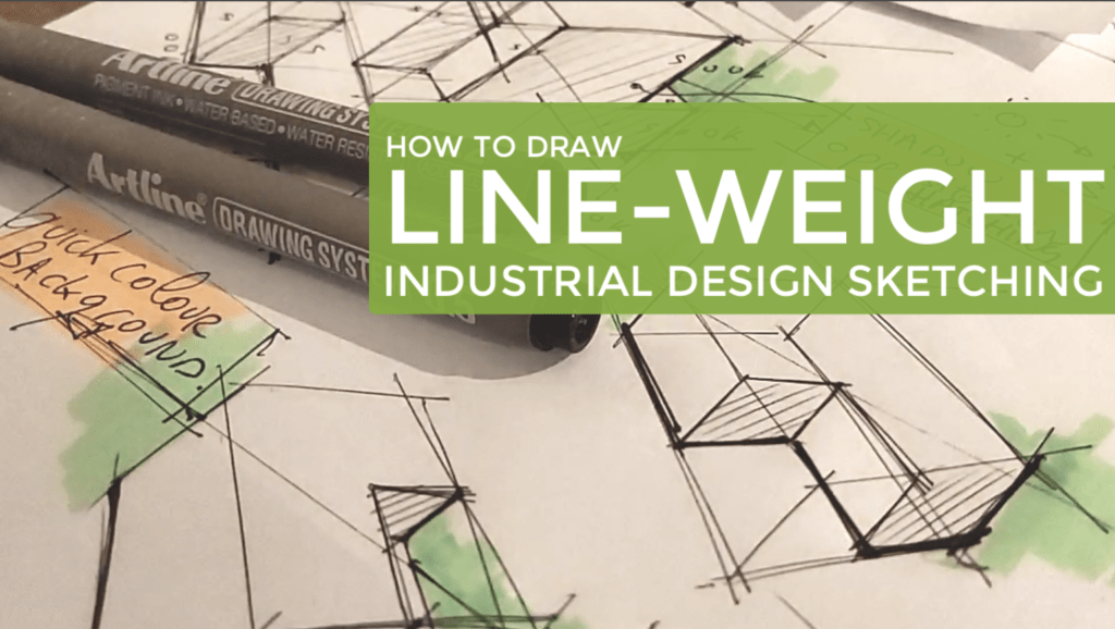 How to draw Line-Weight | Industrial Design Sketching