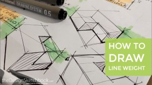 How to draw line-weight | Product design sketching