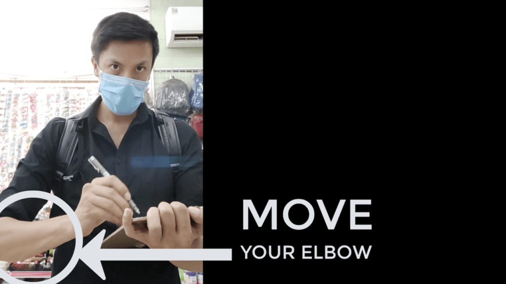 move your elbow