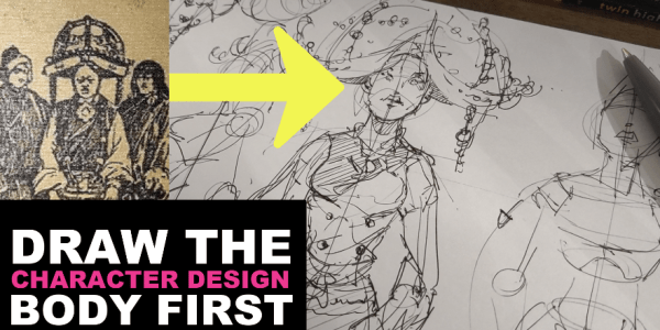 How to draw a body - Character Design sketching