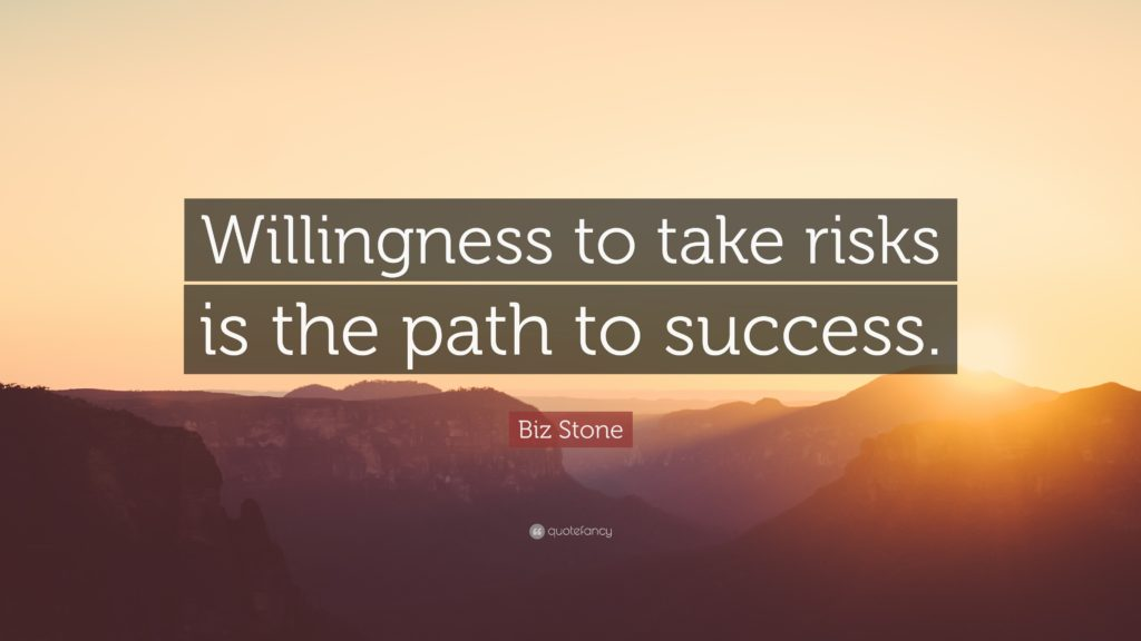 Willingness to take risks is the path to success. — Biz Stone