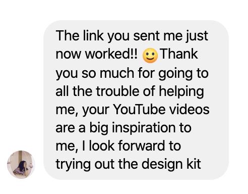 Testimonial Sofia on The Design Sketchbook video tutorial on Youtube