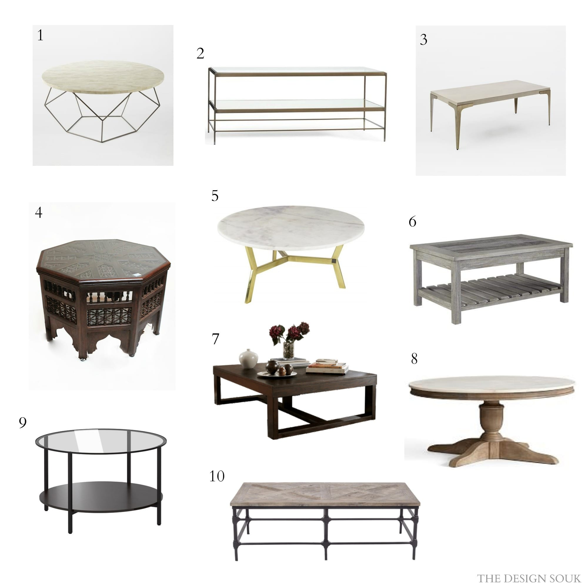 Fabulous Coffee Tables The Design Souk An Interiors Styling - Pottery barn leona coffee table