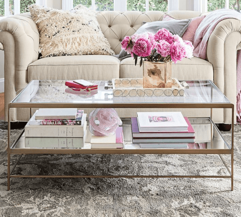Pottery Barn Leona Coffee Table | Photo Source: Pottery Barn