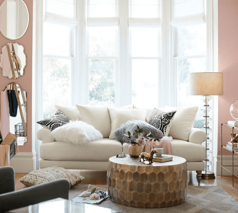 Not featured as one of my top 10 because it's sooo unique, but I absolutely love the Vince Metal-Clad Coffee Table by Pottery Barn as well | Photo Source: Pottery Barn