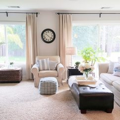How To Make Living Room Curtains Coastal Inspired Rooms No Sew Drop Cloth The Design Twins Diy Home