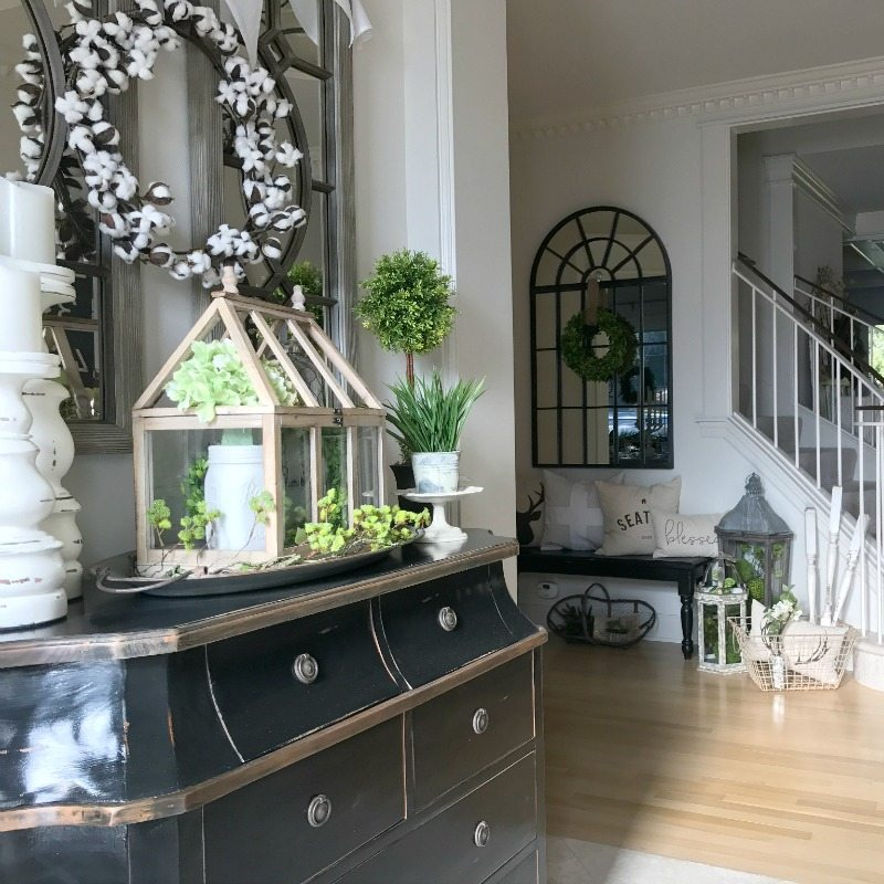 Front Entryway Decorating Ideas  The Design Twins  DIY