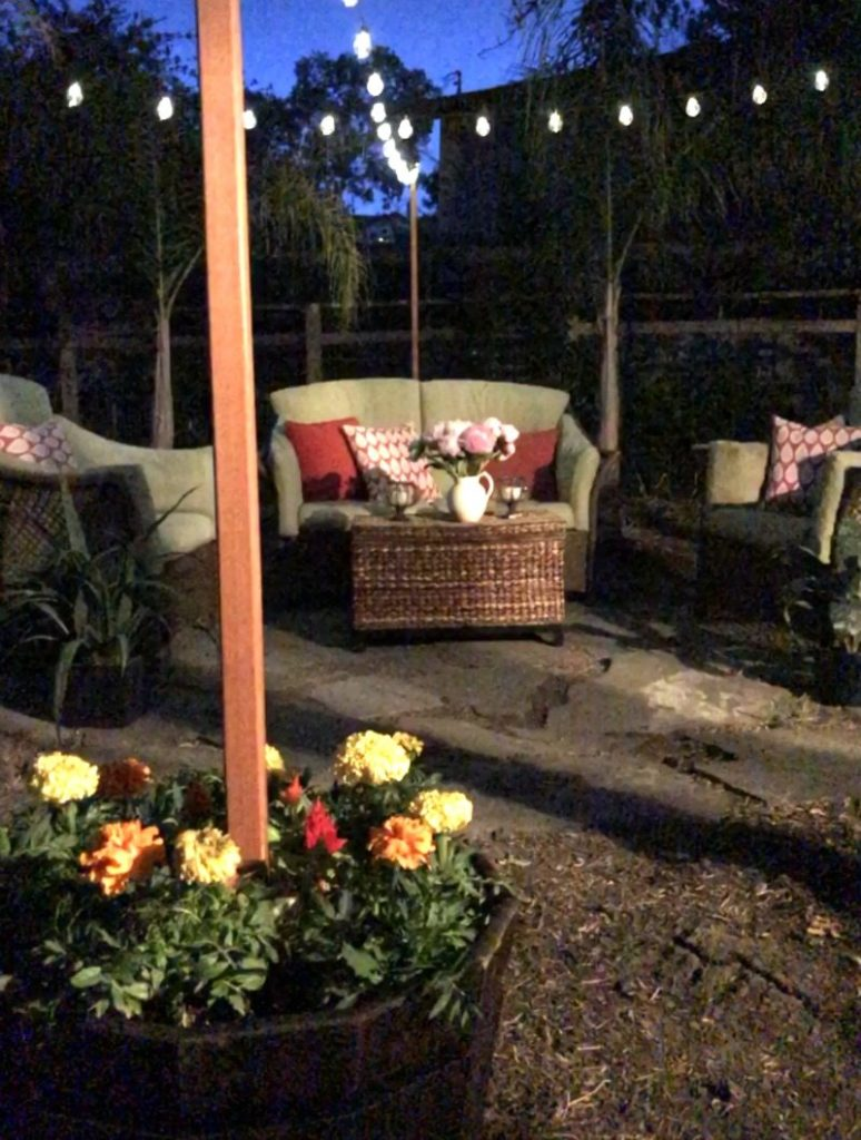 how to hang outdoor string lights video