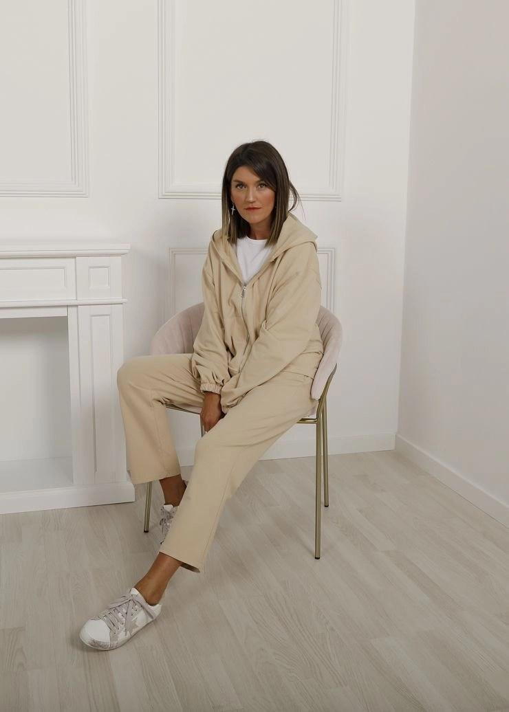 Chándal sudadera y jogger beige - The desire shop - Chándal mujer
