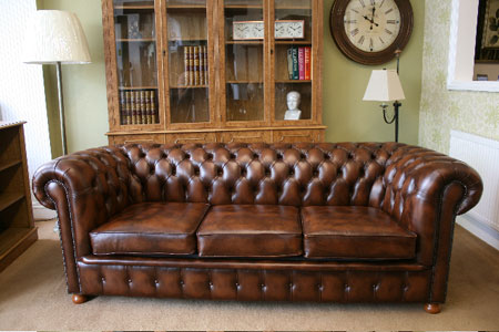 chesterfield pull out sofa bed sectional leather brown sofas - the desk centre