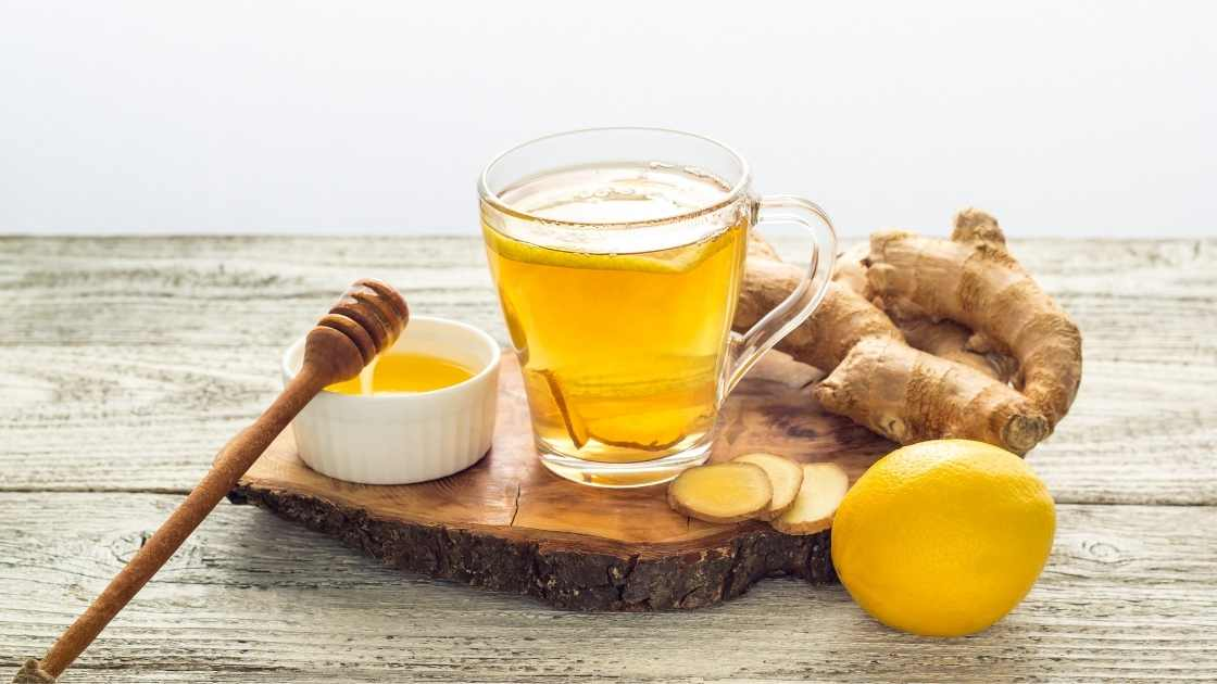 Immune Boosting Ginger Lemon And Honey Tea