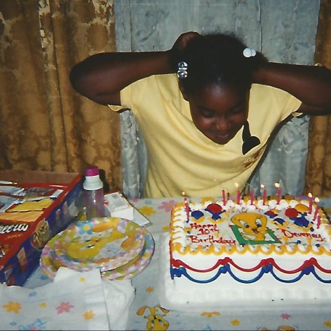 Me at my 10th bday party