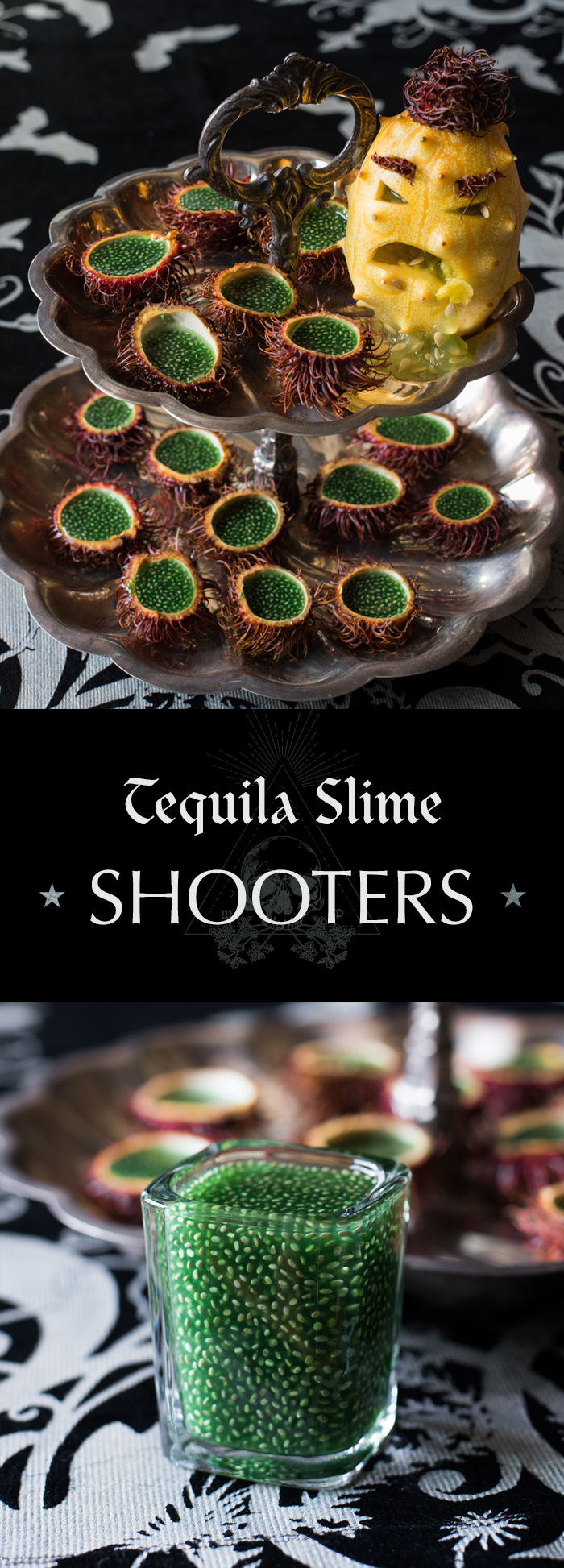 Tequila Slime Shooter - Tart lime and tequila come together in this sweet and slimy shooter. All natural slime courtesy of the almighty chia seed!