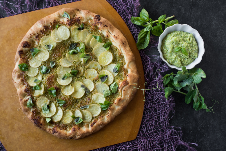 Pea Pesto Pizza