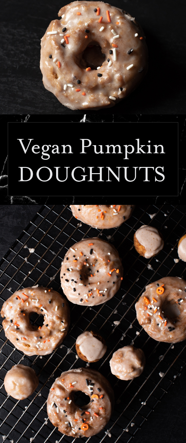 Yes, I said VEGAN DOUGHNUTS!  These are so perfectly cakey, slight crispy exterior, sweet glaze, and perfect with morning coffee.  To. Die. For!!!
