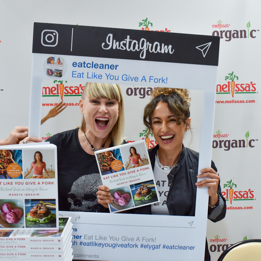 Natalie Wiser-Orozco and Mareya Ibrahim of Eat Cleaner with her new book Eat Like You Give A Fork.