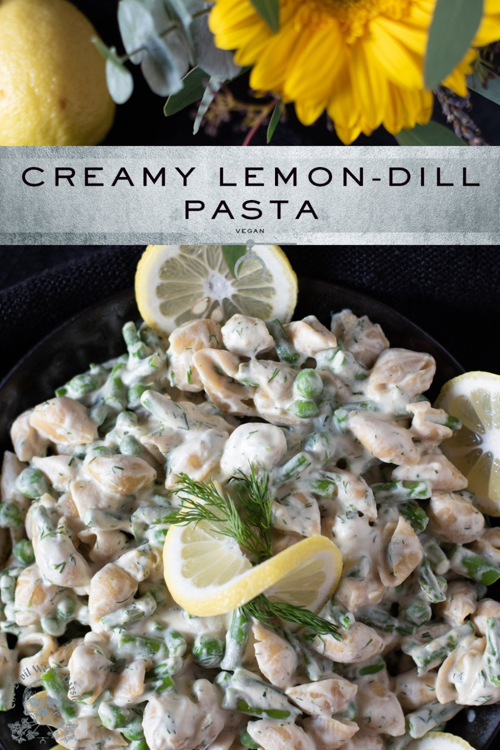 Lemon, dill, and asparagus just SCREAM summer, peas complement, and a cream sauce made from cashews makes this a calorie dense recovery meal!