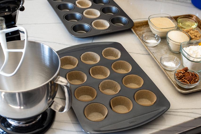 Pumpkin Coffee Cake Muffins workstation
