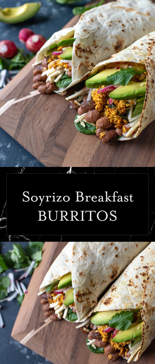 This is the one food item that you need in your repertoire!  Soyrizo tofu burritos are delicious, nutritious and completely satisfying!