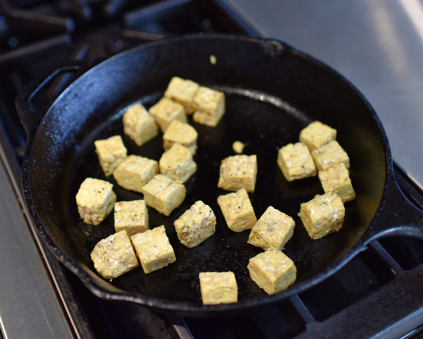 Sauteeing Tempeh