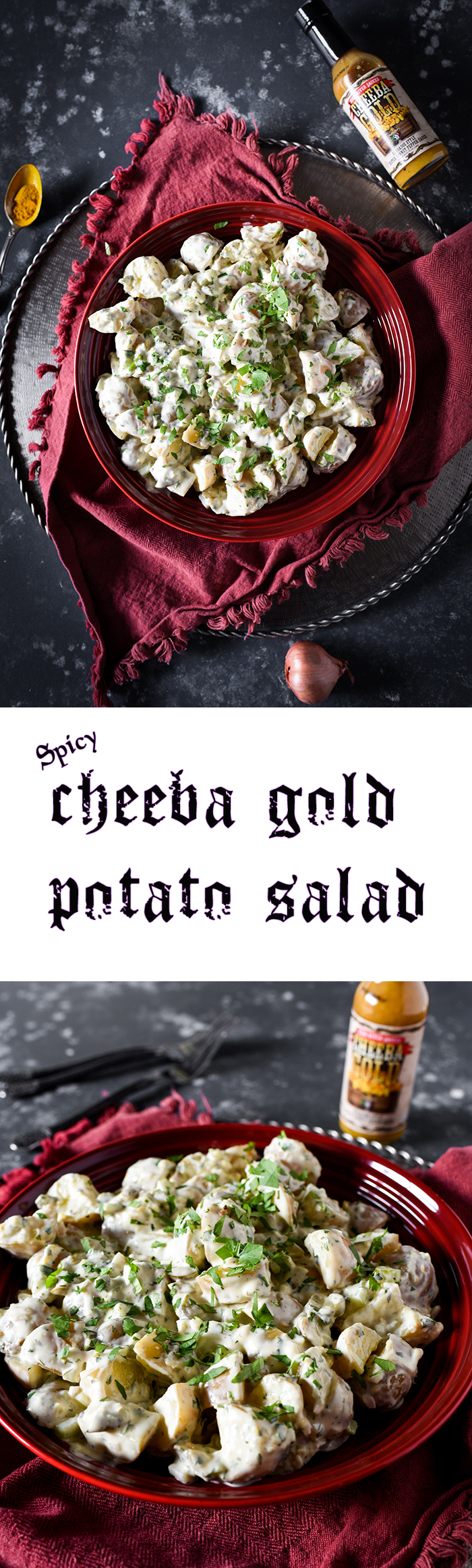 This spicy potato salad will leave you SCREAMIN'! Feed that inner rock star, yo!