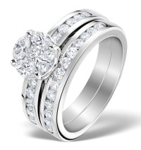Matching Diamond Engagement and Wedding Ring 1.46ct ...